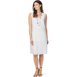 W.lane Textured Stripe Linen Dress - Silver - 8 found on Bargain Bro India from W Lane for $19.86