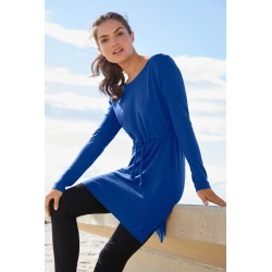 Isobar Merino Boat Neck Longsleeve Top - Cobalt - L found on Bargain Bro Philippines from crossroads for $27.97