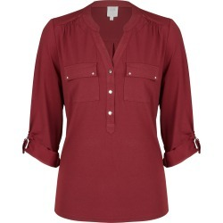 Rivers 3/4 Sleeve Military Style Shirt - Wine - 20 found on Bargain Bro India from Rivers for $21.34