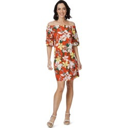 Rockmans Elbow Sleeve Oversized Floral Print Dress - Multi - 8 found on Bargain Bro from W Lane for USD $10.23