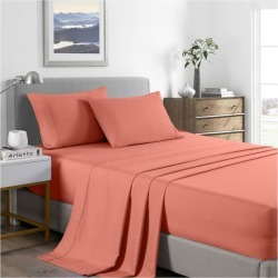 Royal Comfort 2000tc Bamboo Cooling Sheet Set - Peach - King Single found on Bargain Bro from Noni B Limited for USD $31.11