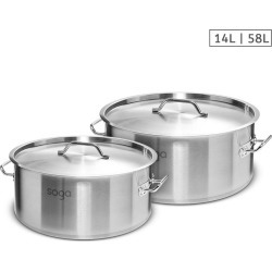 Soga Ss Top Grade Thick Stock Pot 14l 58l 18/10 - Stainless Steel - ONE found on Bargain Bro from Noni B Limited for USD $150.76