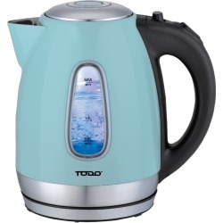 Todo 1.7l Stainless Steel Cordless Kettle 2200w Blue Led Light Electric Water Jug - Blue - One found on Bargain Bro from Noni B Limited for USD $23.42