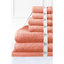 Kingtex 7 Piece Bath Towel Set - Rust - One Size found on Bargain Bro from Noni B Limited for USD $64.58