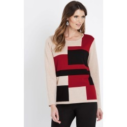 W.lane Colour Block Long Sleeve Pullover - Multi - XS found on Bargain Bro from Noni B Limited for USD $11.74