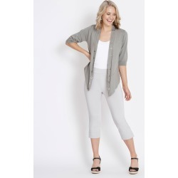 Rockmans Crop Length Bengaline Eyelet Pant - Soft Grey found on Bargain Bro India from crossroads for $13.68