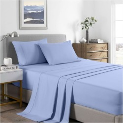 Royal Comfort 2000tc Bamboo Cooling Sheet Set - Light Blue - Single found on Bargain Bro from Noni B Limited for USD $31.11