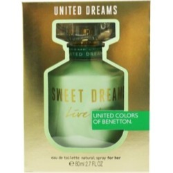 Benetton United Dreams Sweet Dreams Live Free Eau De Toilette Spray - Multi - 80ml found on Bargain Bro from BE ME for USD $16.99