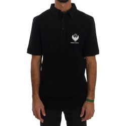 Frankie Morello Black Cotton Stretch Polo T-shirt - M found on MODAPINS from Rockmans for USD $128.67