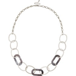 Amber Rose Resin Link Rope Necklace - Silver - One Size found on Bargain Bro India from Katies for $15.25