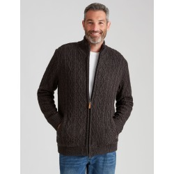Rivers Cable Knit Sherpa Cardigan - Charcoal Twist - S found on Bargain Bro India from W Lane for $34.78