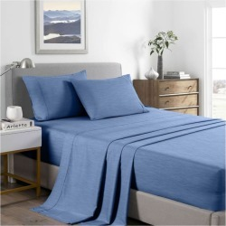 Royal Comfort 2000tc Bamboo Cooling Sheet Set - Denim - King found on Bargain Bro from Noni B Limited for USD $31.11