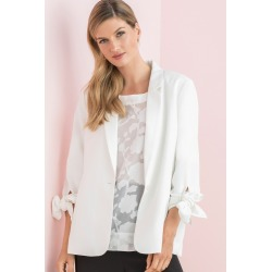 Grace Hill Tie Sleeve Blazer - Cream - 16 found on Bargain Bro India from Rockmans for $22.87
