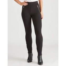 Rockmans Full Length Zip Front Ponte Pant - Black - 24 found on Bargain Bro from Katies for USD $11.83