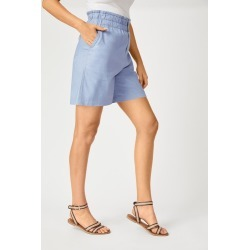 Emerge Linen Blend button Short - Blue - 20 found on Bargain Bro Philippines from W Lane for $36.01