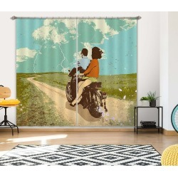 Aj 3d Motorcycle Travel 055 Showdeer Curtain Blockout Photo Curtain - Multi - 5 found on Bargain Bro Philippines from crossroads for $282.89