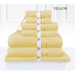 Kingtex 7 Piece Bath Towel Set - Yellow - One found on Bargain Bro from Noni B Limited for USD $22.19