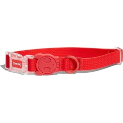Zee Dog Neopro Adjustable Soft Dog Collar Coral Red Large