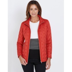 W.lane Paneled Quilted Puffer Jacket - Red - 8 found on Bargain Bro from Noni B Limited for USD $20.57