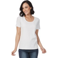 Rockmans Short Sleeve Scoop Neck Tee - White - S found on Bargain Bro India from BE ME for $7.72