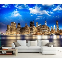 Aj Wallpaper 3d Beautiful City Night View 1053 Wall Murals Removable Wallpaper Woven Paper - Multi - XXXXL found on Bargain Bro from Rockmans for USD $253.30