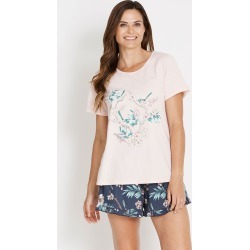 Rivers Short Sleeve Sleep Tee - Pink found on Bargain Bro India from crossroads for $5.37