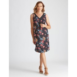 Millers Online Exclusive Sleeveless Crochet Neck Trim Midi - Navy/blue Floral - Navy/blue Floral - 12 found on Bargain Bro from Katies for USD $11.83