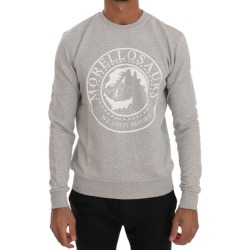 Frankie Morello Gray Cotton Crewneck Pullover Sweater - Grey - XL found on MODAPINS from Noni B Limited for USD $160.34