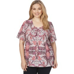 Beme Elbow Sleeve Print Pintuck Top - Floral - XS found on Bargain Bro India from W Lane for $23.33
