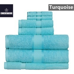 Kingtex 7 Piece Towel Bath Sheet Set - Turquoise - One found on Bargain Bro from Noni B Limited for USD $27.12