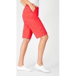 Capture Linen Blend Button Short - Tango - 8 found on Bargain Bro India from Rockmans for $20.83