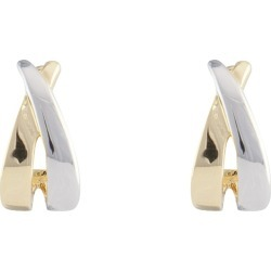 V 2 Tone Metal Earring - Two Tone - One Size found on Bargain Bro from Noni B Limited for USD $11.73