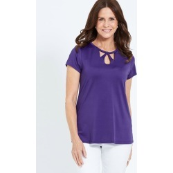 Millers Cap Sleeeve Top With Neck Detail - Grape found on Bargain Bro Philippines from crossroads for $5.74