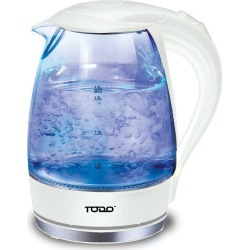 Todo 1.7l Glass Cordless Kettle 2200w Blue Led Light Kitchen Water Jug - White - One found on Bargain Bro from Noni B Limited for USD $19.90