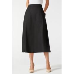 Grace Hill Linen Blend Skirt - Black - 14 found on Bargain Bro Philippines from crossroads for $38.51