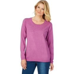 Noni B Candice Knit Self Design - Radiant Orchid - M found on Bargain Bro India from BE ME for $14.48