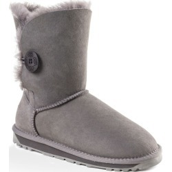 Ozwear Ugg Womens Classic Short Button Boots - Grey - EU40 / AU10L found on Bargain Bro from Rockmans for USD $65.42