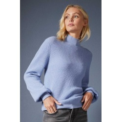 Emerge Merino Ribbed Highneck Sweater - Cornflower - S found on Bargain Bro from crossroads for USD $35.17