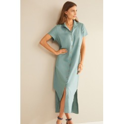 Grace Hill Linen Shirt Dress - Sea Spray - 10 found on Bargain Bro Philippines from W Lane for $50.47