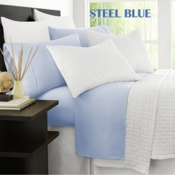 Ramesses Original 2000tc Cooling Bamboo Sheet Set - Steel Blue - Double found on Bargain Bro from Noni B Limited for USD $31.19