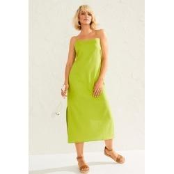 Emerge Linen Blend Slip Dress - Lime - 8 found on Bargain Bro Philippines from W Lane for $19.51