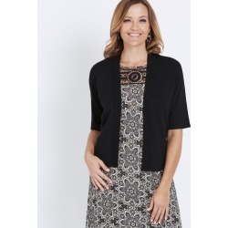 Millers Elbow Sleeve Crop Cardigan - Black - XS found on Bargain Bro India from Rockmans for $15.51