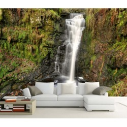 Aj Wallpaper 3d Moss Waterfall 1057 Wall Murals Removable Wallpaper Self-adhesive Vinyl - Multi - XXXL found on Bargain Bro from Rockmans for USD $288.65