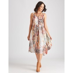 Katies Woven Hanky Hem Dress - Reptile - 18 found on Bargain Bro from crossroads for USD $26.83