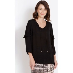 Rockmans 3/4 Sleeve Ruffle Blouse - White - 20 found on Bargain Bro Philippines from Rockmans for $10.27
