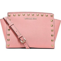 Michael Kors Selma Medium Studded Saffiano Leather Messenger Bag - Pale Pink - One found on Bargain Bro India from Katies for $506.23