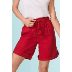 Capture Linen Blend Drawcord Short - Cerise - 12 found on Bargain Bro from Katies for USD $20.12