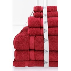 Kingtex 7 Piece Bath Sheet Set - Red - One Size found on Bargain Bro from Noni B Limited for USD $74.56