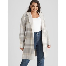 Beme Long Sleeve Check Cardi - Greymarle Check - XS found on Bargain Bro India from Rockmans for $43.54