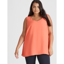 Beme Sleeveless V Neck Tank - Coral - 16 found on Bargain Bro India from W Lane for $15.25